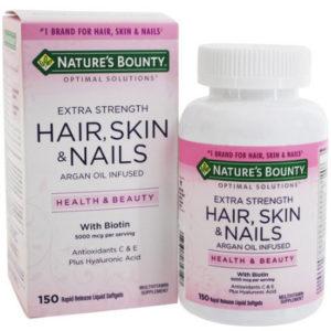 حبوب hair skin nails تسمن
